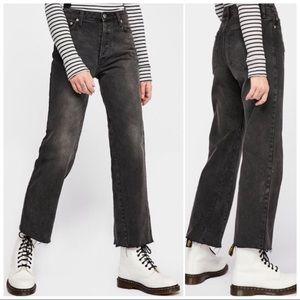 FP Vintage Crop Straight-Leg Jeans
